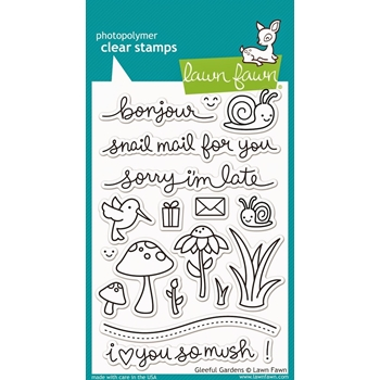 Lawn Fawn GLEEFUL GARDENS Clear Stamps LF799