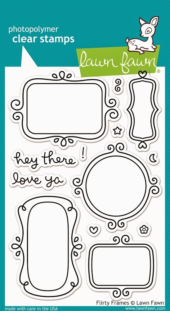 Lawn Fawn FLIRTY FRAMES Clear Stamps LF801 zoom image