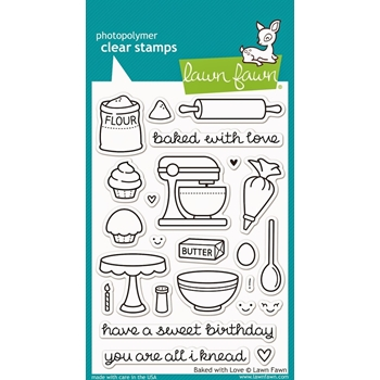 Lawn Fawn BAKED WITH LOVE Clear Stamps LF805