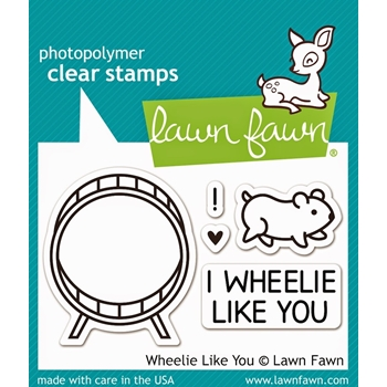 Lawn Fawn WHEELIE LIKE YOU Clear Stamps LF838