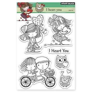 Penny Black Clear Stamps I HEART YOU 30-272 zoom image