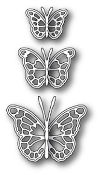 Memory Box LEAVENWORTH BUTTERFLY TRIO Craft Die 99098 Preview Image
