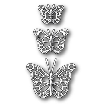 Memory Box LEAVENWORTH BUTTERFLY TRIO Craft Die 99098