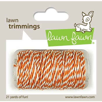 Lawn Fawn TANGERINE Single Cord Lawn Trimmings LF786