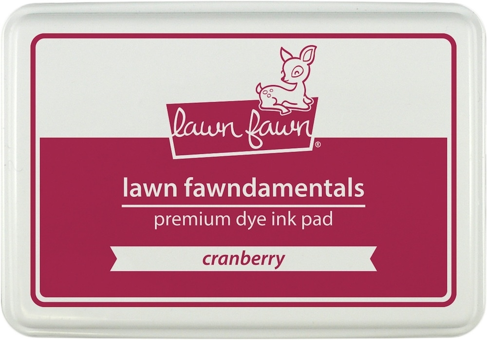 Lawn Fawn CRANBERRY Premium Dye Ink Pad Fawndamentals LF859 zoom image