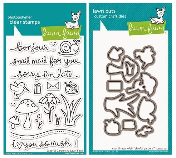 Lawn Fawn SET LF215GG LOVE YOU SO MUSH Clear Stamps And Dies* zoom image