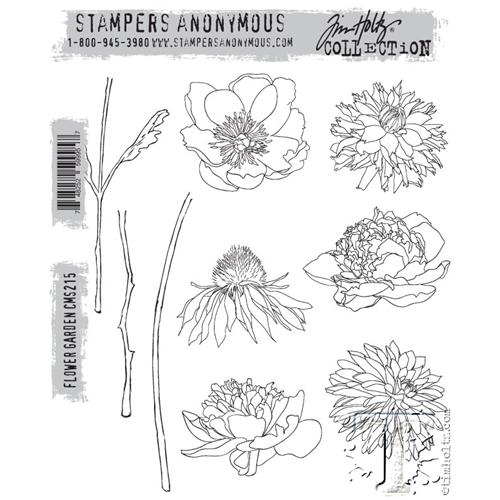 Tim Holtz Cling Rubber Stamps FLOWER GARDEN cms215 Preview Image