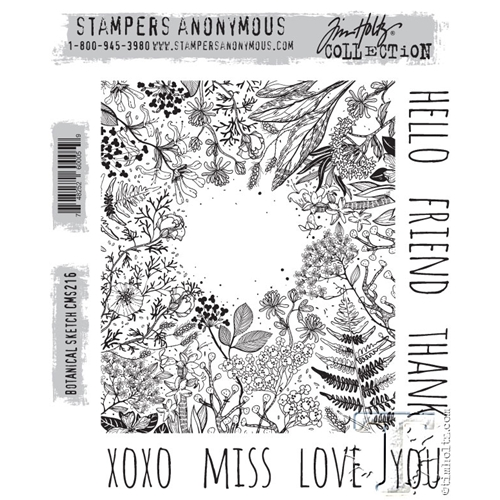 Tim Holtz Cling Rubber Stamps BOTANICAL SKETCH cms216 Preview Image