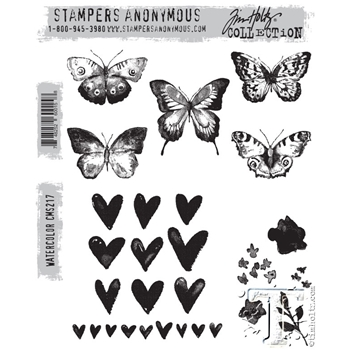 Tim Holtz Cling Rubber Stamps 2015 WATERCOLOR cms217