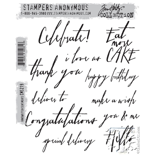 Tim Holtz Handwritten Sentiments