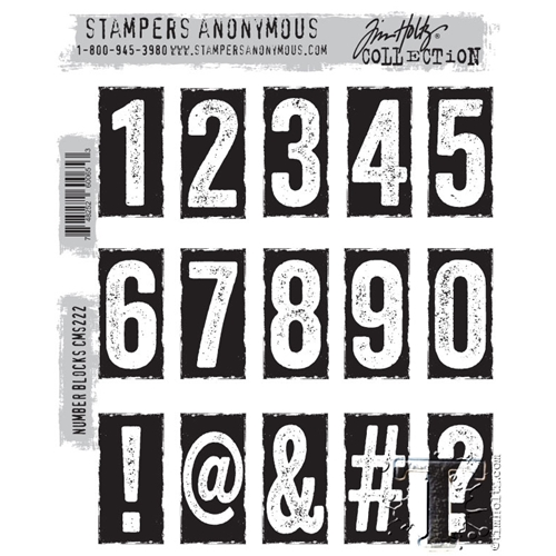 Tim Holtz Cling Rubber Stamps NUMBER BLOCKS CMS222 Preview Image