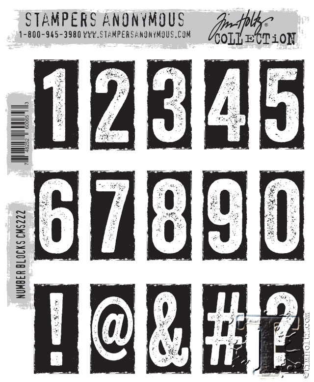Tim Holtz Cling Rubber Stamps NUMBER BLOCKS CMS222 zoom image