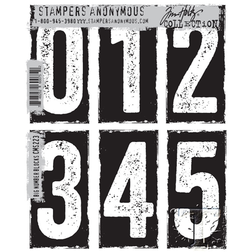 Tim Holtz Cling Rubber Stamps  BIG NUMBER BLOCKS CMS223 Preview Image