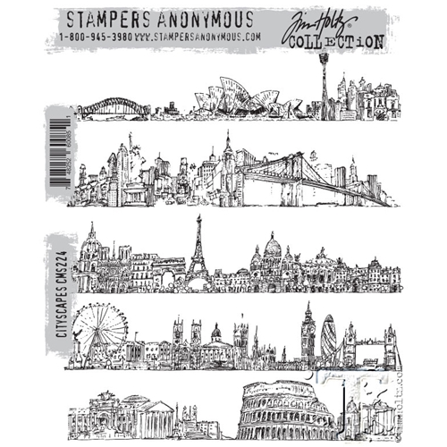 Tim Holtz Cling Rubber Stamps CITYSCAPES CMS224 Preview Image