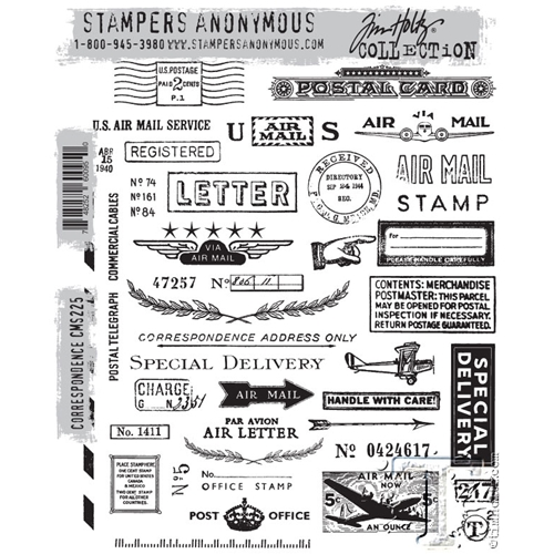 Tim Holtz Cling Rubber Stamps CORRESPONDENCE CMS225 Preview Image