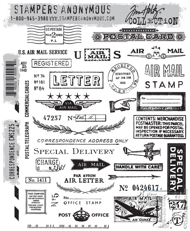 Tim Holtz Cling Rubber Stamps CORRESPONDENCE CMS225 zoom image