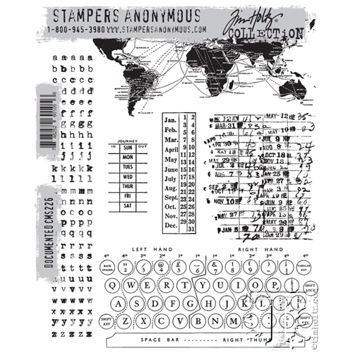 Tim Holtz Cling Rubber Stamps  DOCUMENTED CMS226 Preview Image