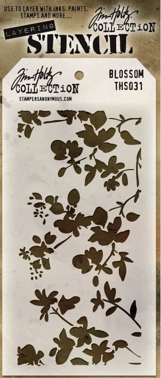 Tim Holtz Layering Stencil BLOSSOM THS031 zoom image