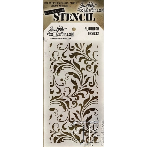 Tim Holtz Layering Stencil FLOURISH THS032 Preview Image