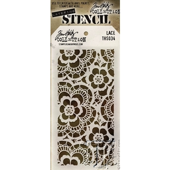 Tim Holtz Layering Stencil  LACE THS034
