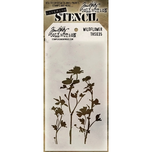 Tim Holtz Layering Stencil WILDFLOWER THS035 Preview Image
