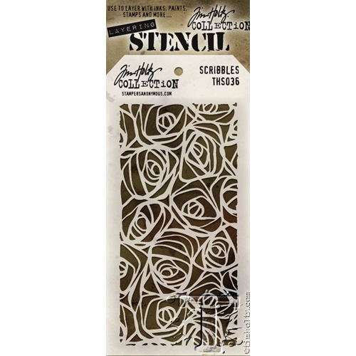Tim Holtz Layering Stencil  SCRIBBLES THS036 Preview Image
