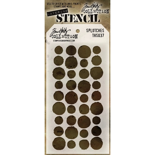 Tim Holtz Layering Stencil  SPLOTCHES THS037 Preview Image
