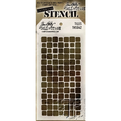Tim Holtz Layering Stencil  TILES THS042 Preview Image