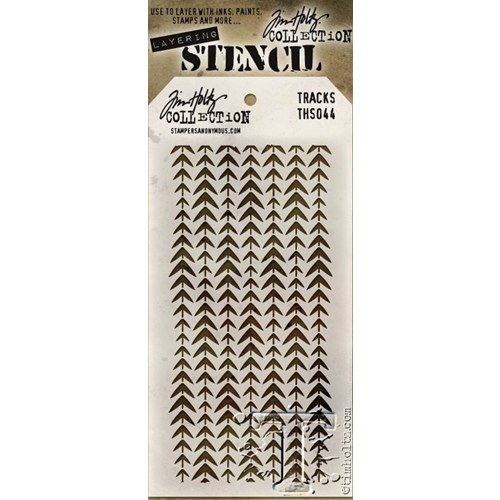 Tim Holtz Layering Stencil  TRACKS THS044 Preview Image