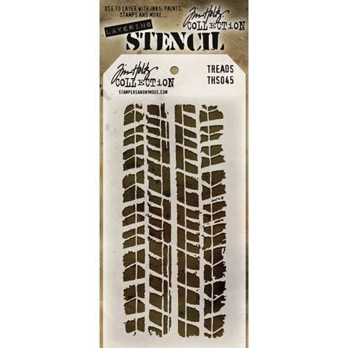 Tim Holtz Layering Stencil TREADS THS045 Preview Image