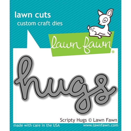 Lawn Fawn SCRIPTY HUGS Lawn Cuts Die LF835 Preview Image