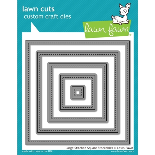 Lawn Fawn LARGE STITCHED SQUARE STACKABLES Lawn Cuts Dies LF837 Preview Image