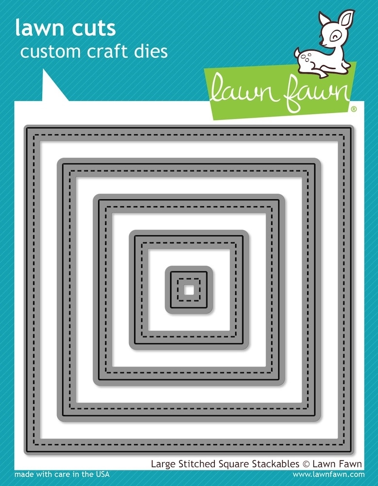 Lawn Fawn LARGE STITCHED SQUARE STACKABLES Lawn Cuts Dies LF837 zoom image