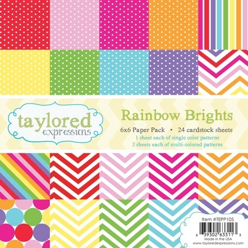 Taylored Expressions RAINBOW BRIGHTS 6x6 Paper Pack TEPP105 zoom image