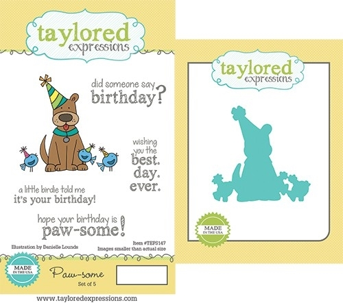 Taylored Expressions PAWSOME Cling Stamp and Die Set TEPS147 Preview Image