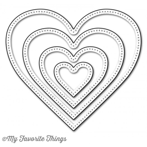 My Favorite Things PIERCED HEART STAX Die-Namics MFT586 Preview Image