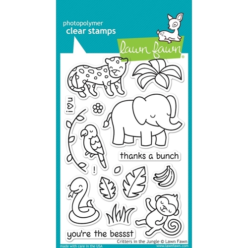Lawn Fawn CRITTERS IN THE JUNGLE Clear Stamps LF803 Preview Image
