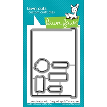 Lawn Fawn A GOOD APPLE Lawn Cuts Dies LF832