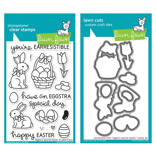 Lawn Fawn SET LF215ESE CHOCOLATE BUNNIES Clear Stamps And Dies Preview Image