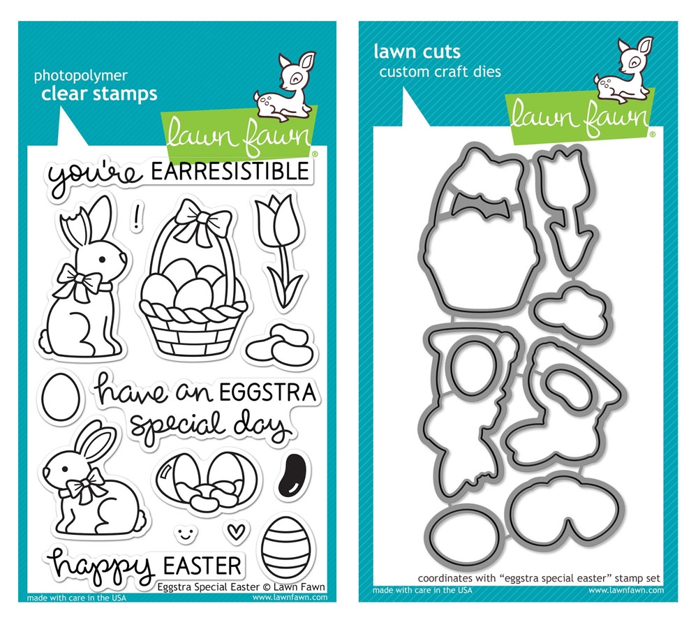 Lawn Fawn SET LF215ESE CHOCOLATE BUNNIES Clear Stamps And Dies zoom image