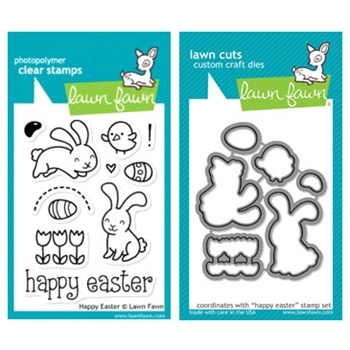 Lawn Fawn SET LF215HE SPRING SPLENDOR Clear Stamps And Dies