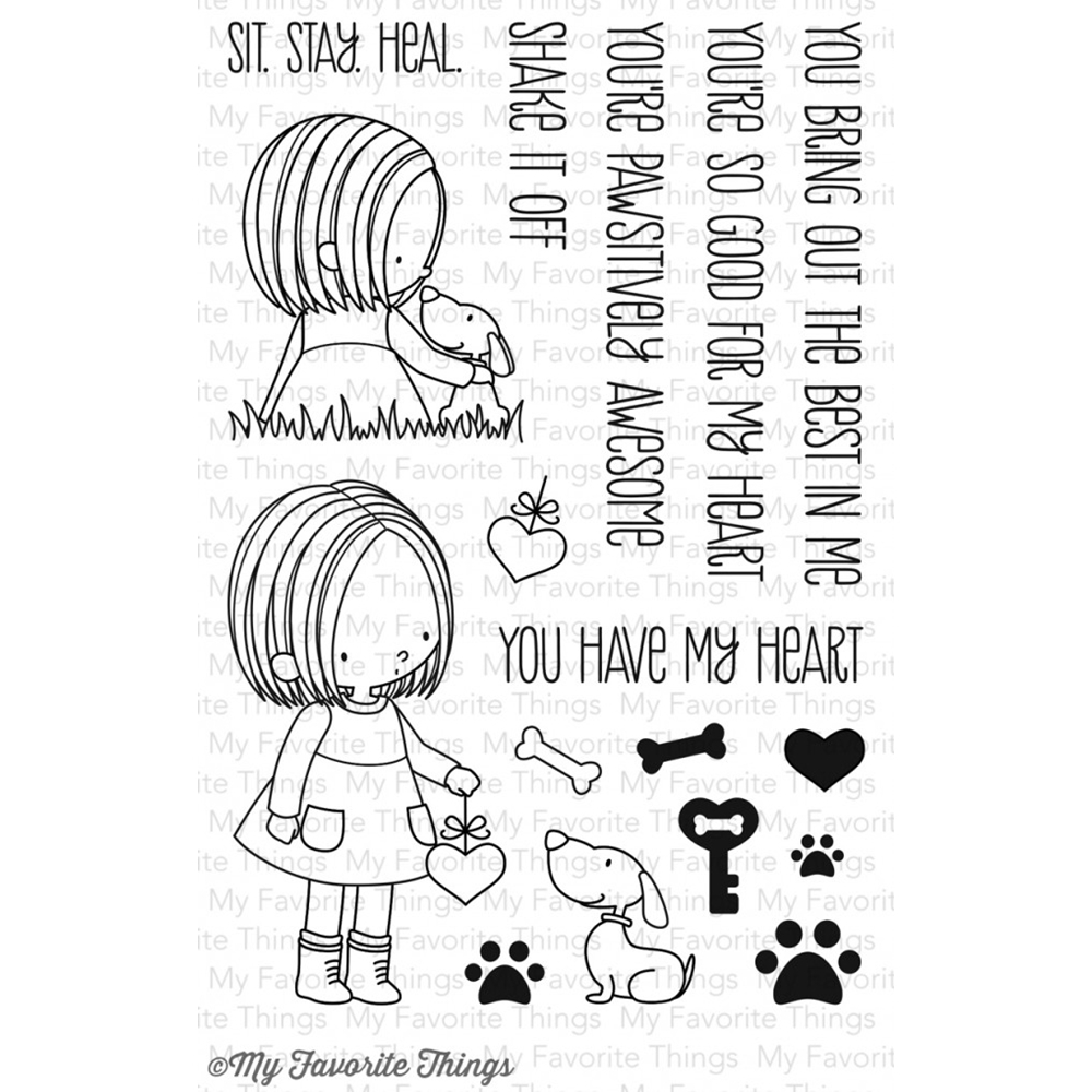 My Favorite Things YOU HAVE MY HEART Clear Stamps BB11 zoom image