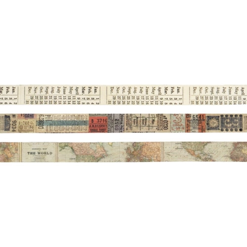 Tim Holtz Idea-ology PASSPORT Design Tape TH93194 Preview Image
