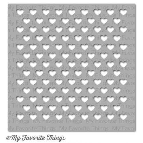 My Favorite Things STAGGERED HEARTS Mixables Stencil MFT ST64 Preview Image