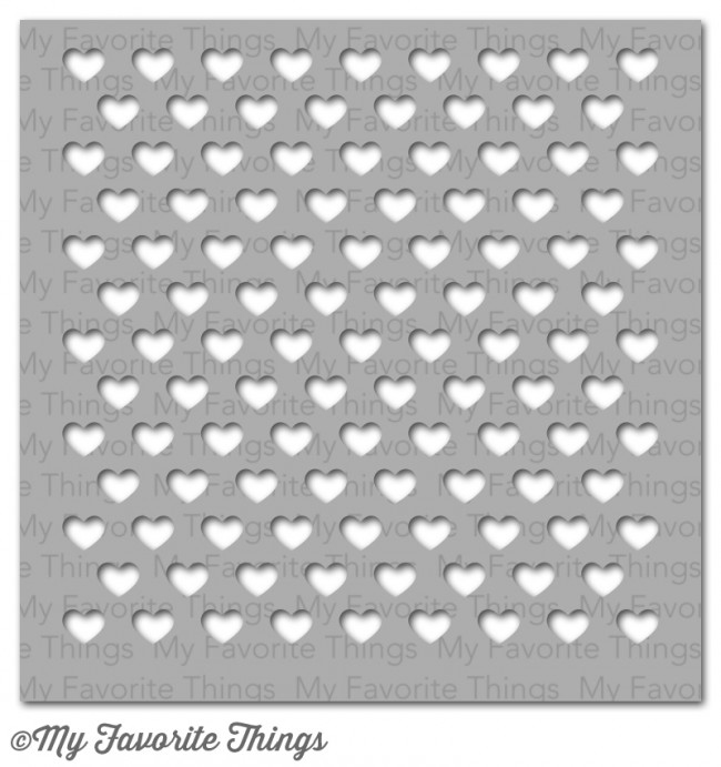 My Favorite Things STAGGERED HEARTS Mixables Stencil MFT ST64 zoom image