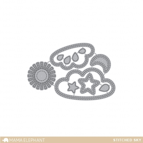Mama Elephant STITCHED SKY DIE Creative Cuts Steel Set  zoom image