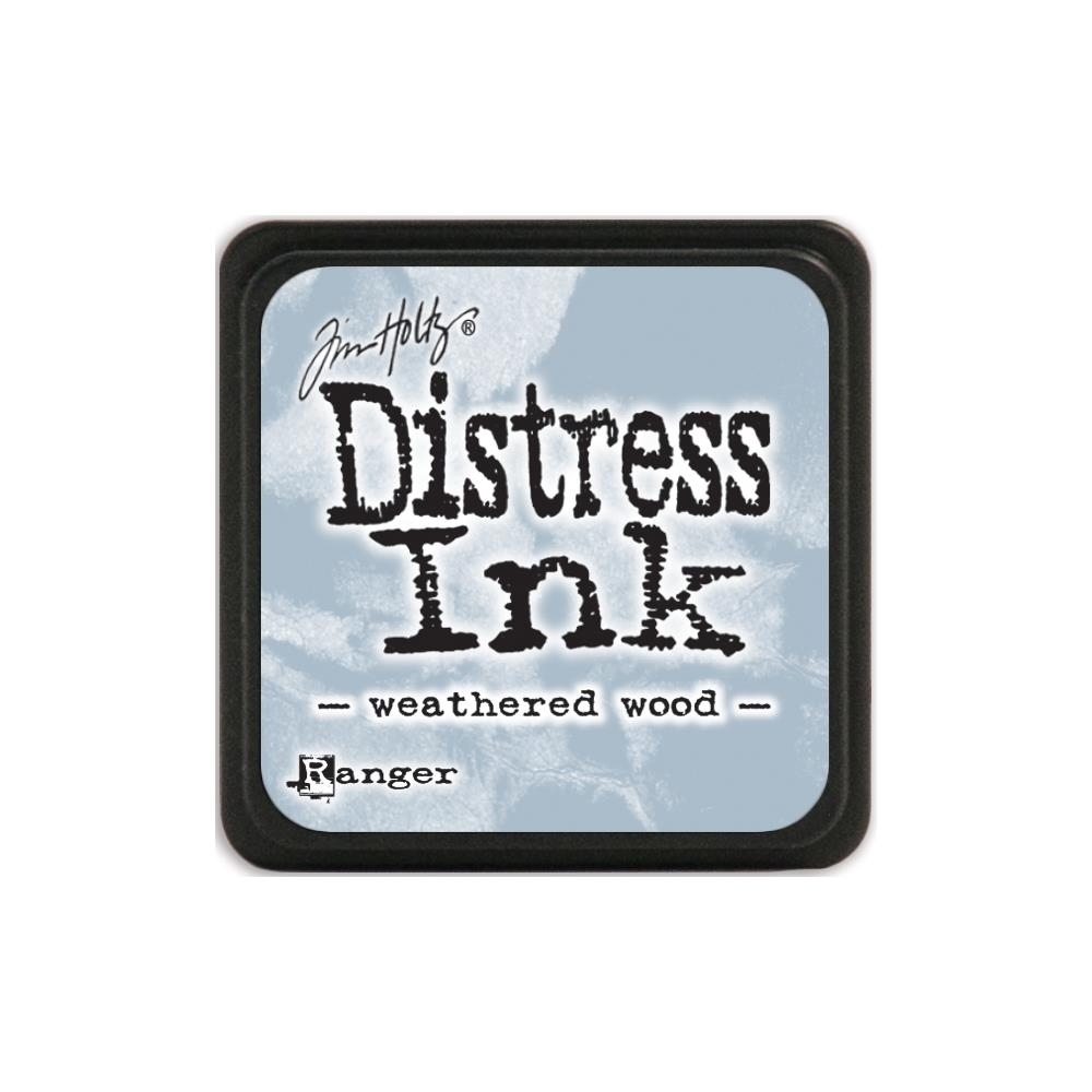 Tim Holtz Distress Mini Ink Pad WEATHERED WOOD Ranger TDP40286 zoom image