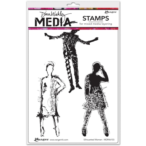 Dina Wakley SILHOUETTED WOMEN Media Cling Rubber Stamp MDR46103 Preview Image