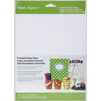 Cricut STICKER PAPER 8.5 x 11 Provocraft 2002530