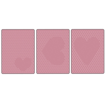 Tim Holtz Sizzix HEARTS EMBOSSING DIFFUSER 3 PACK 660245